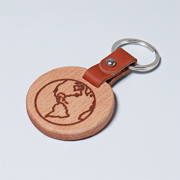 皮革鑰匙圈|地球圖騰