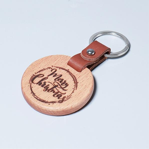 皮革鑰匙圈|聖誕祝福