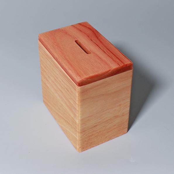 樁木存錢筒|長方款